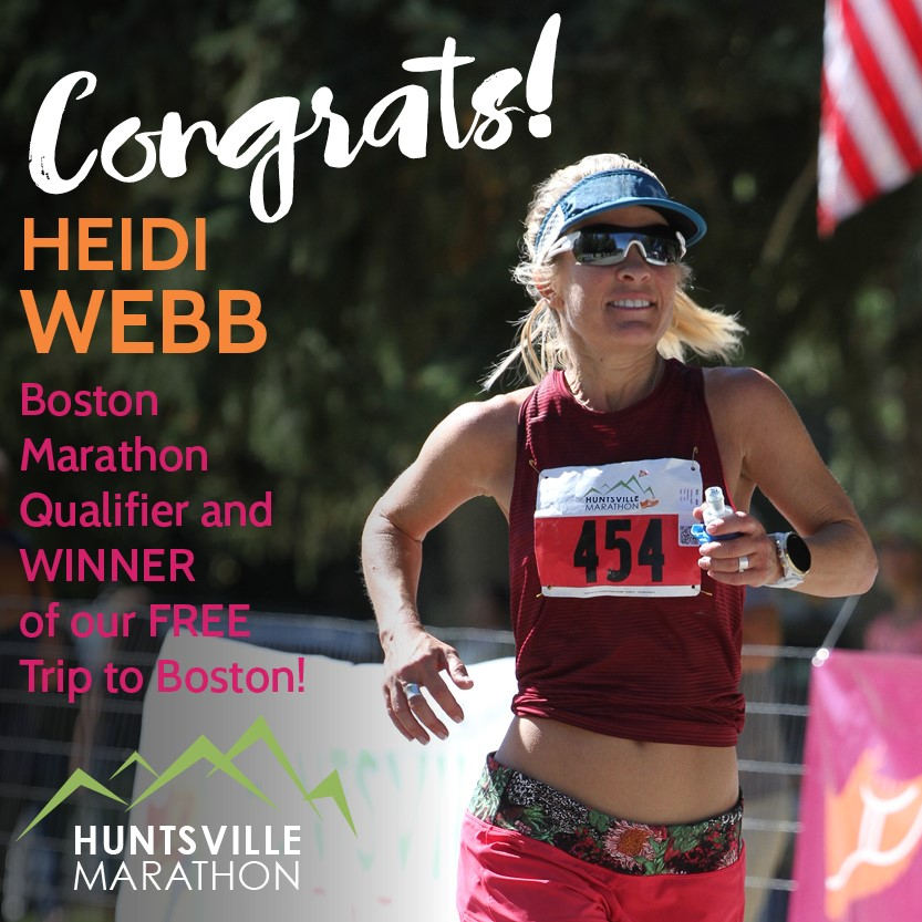 Heidi Webb, Boston Marathon Qualifier, Trip Winner
