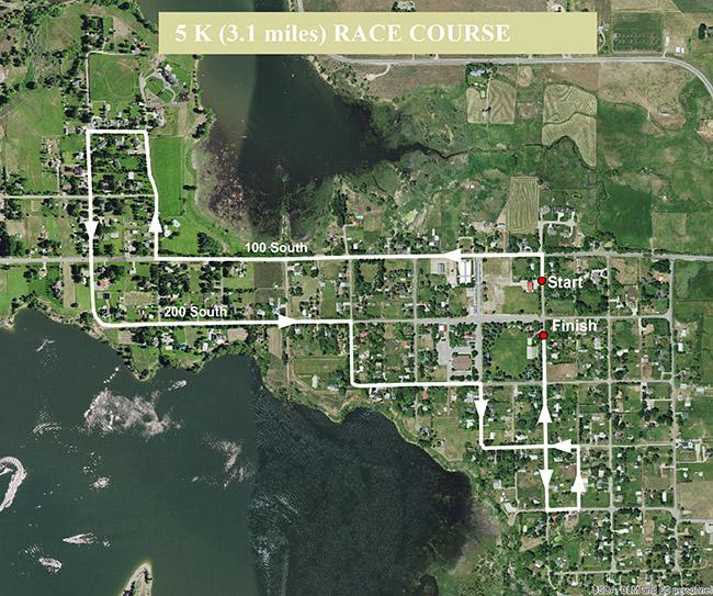 Huntsville Marathon 5K Route Map
