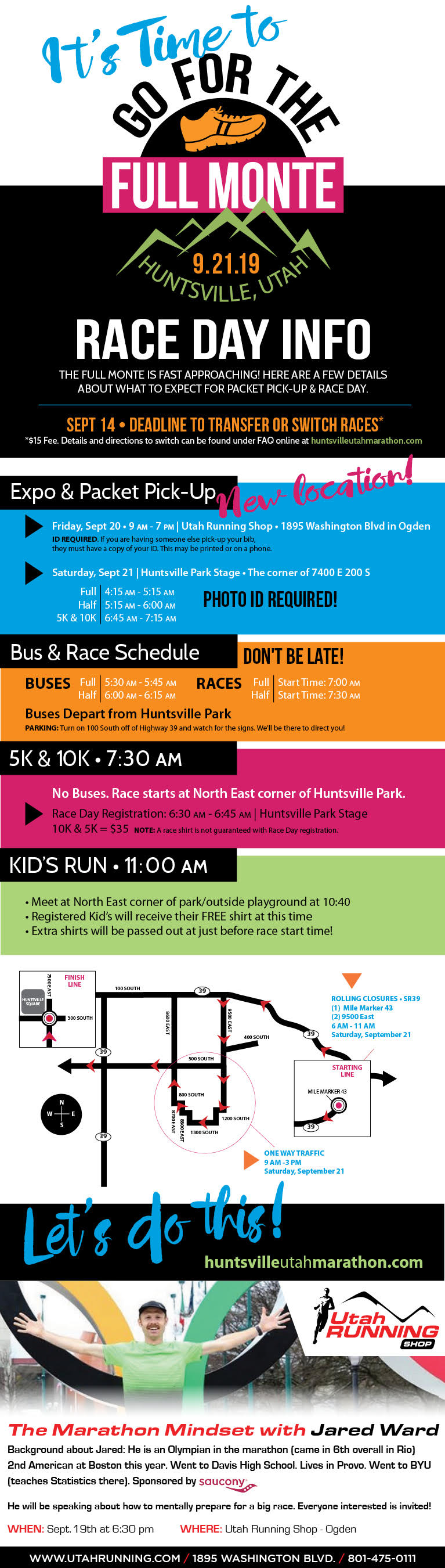 Huntsville Utah Marathon 2019 Race Day Info