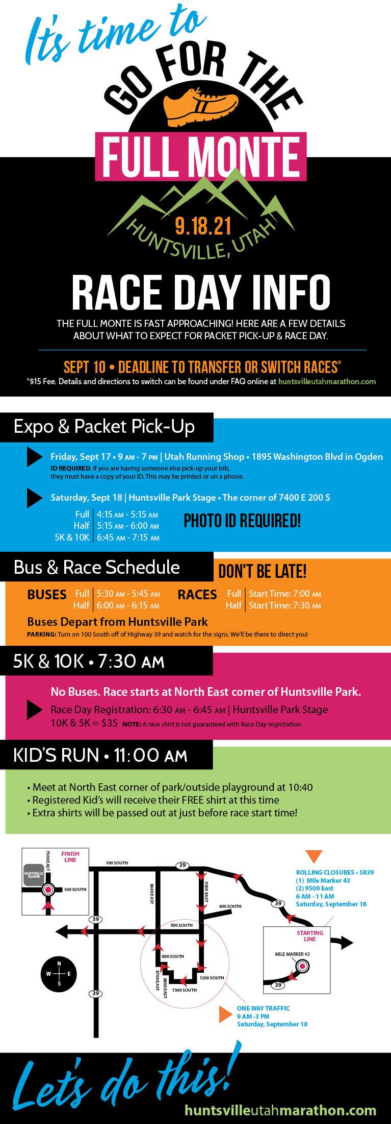 Huntsville Marathon Race Day Information